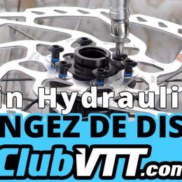 montage disque frein vtt